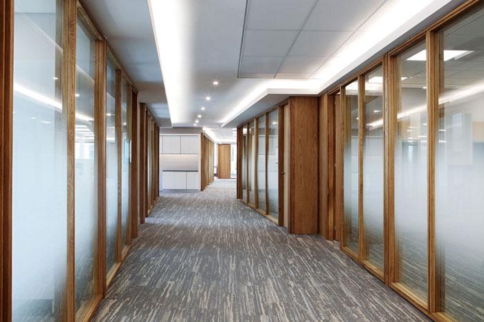 律师事务所办公室走廊装修设计效果图