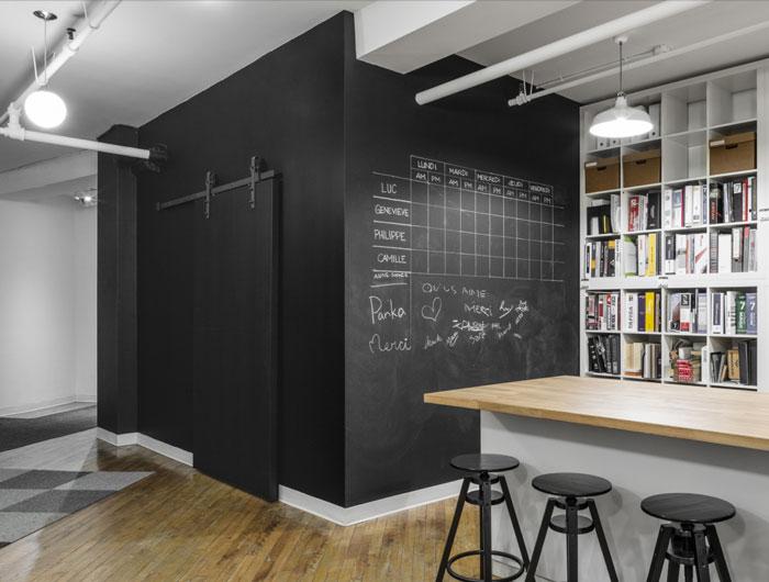 工业风格办公室装修设计效果图_岚禾设计