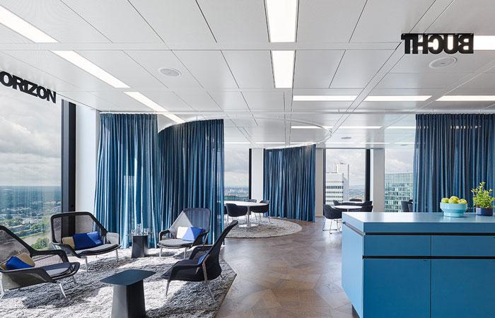 咨詢公司辦公室接待區裝修設計效果圖