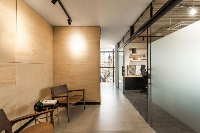 木材公司办公室进门过道装修设计效果图