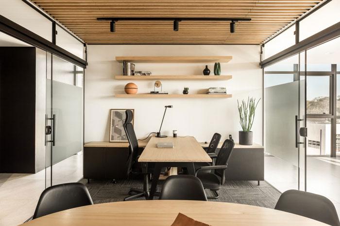 木材公司办公室装修设计效果图