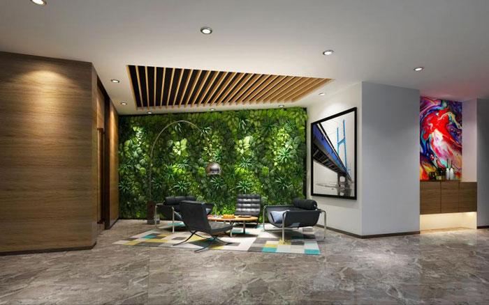 杭州良渚辦公室接待區裝修設計效果圖