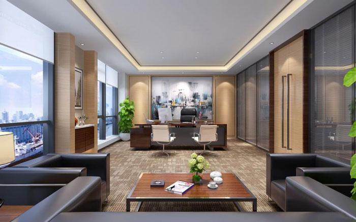 本次为杭州良渚办公室装修设计效果图,办公室设计面积1900平方
