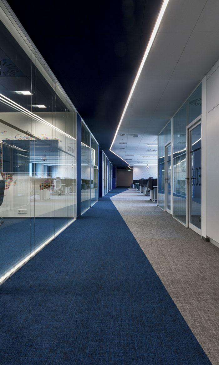 涂料公司办公室过道装修设计效果图