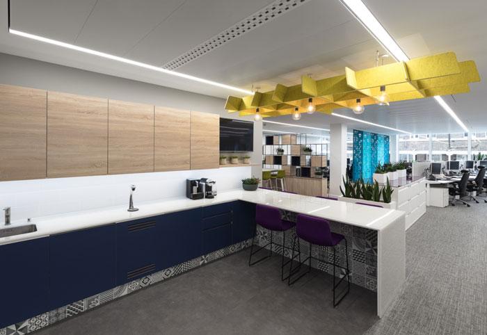 金融机构办公室茶水间装修设计效果图