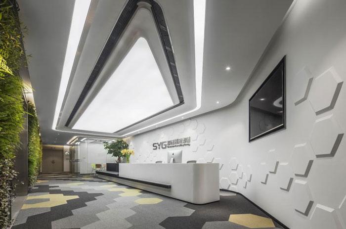 杭州五常办公室前台装修设计方案