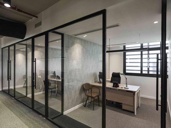 管道公司办公室装修设计效果图