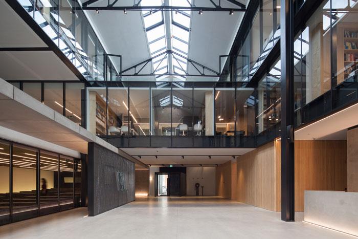 旧仓库办公室前台大厅改造装修设计效果图
