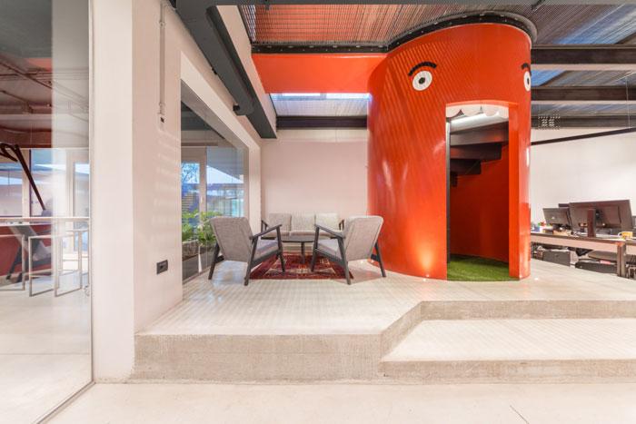 家具厂房办公室休息区装修设计效果图