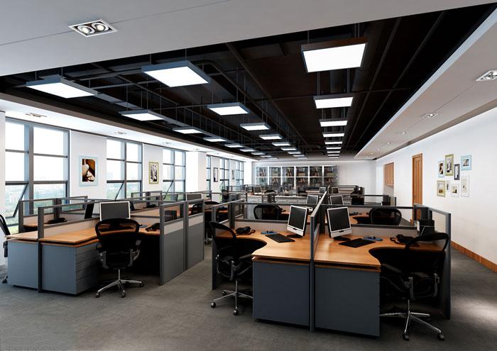 效果图,办公室设计面积10000平方,设计师在办公室设计中,综合了业主的