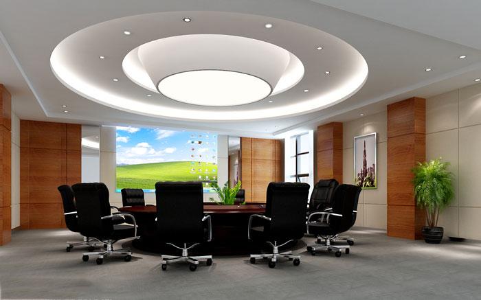 企业孵化器办公室会议室装修设计效果图