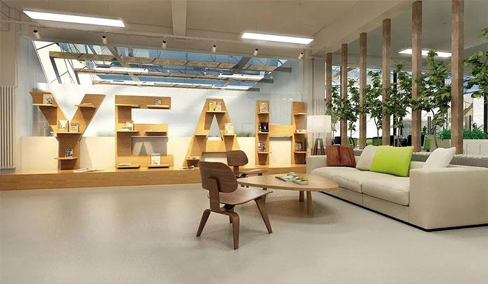 創客空間辦公室接待區裝修設計效果圖