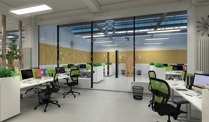 创客空间办公室装修设计效果图