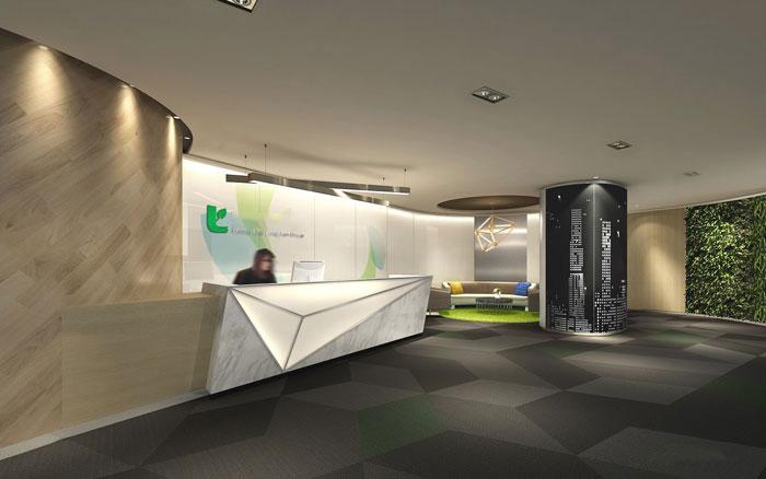 保险公司办公室装修设计方案 图文