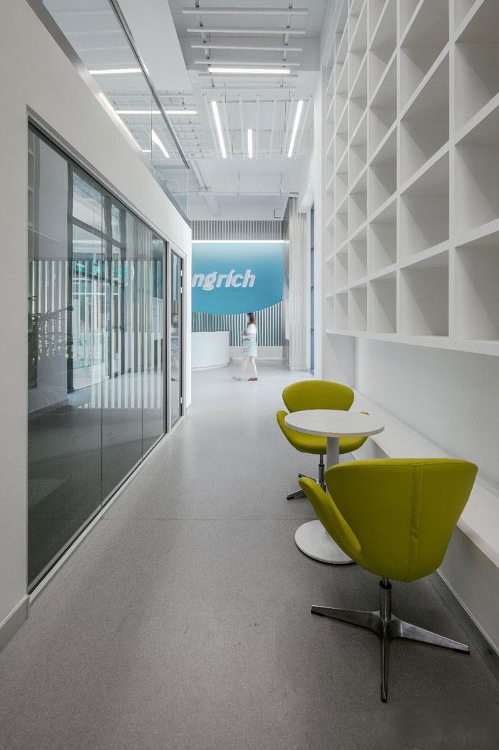 生物公司辦公室接待區裝修設計效果圖