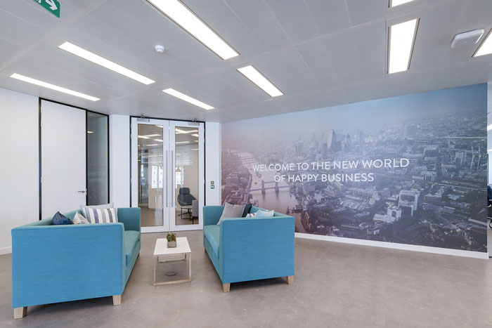 軟件公司辦公室接待區裝修設計效果圖