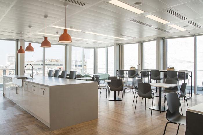 互联网金融公司办公室茶水间装修设计效果图