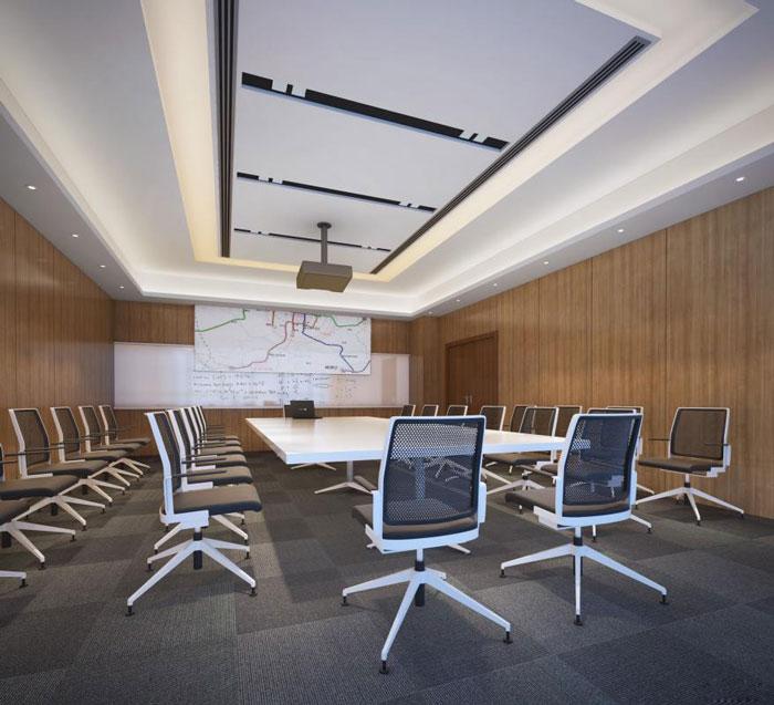 现代风格办公室装修设计效果图