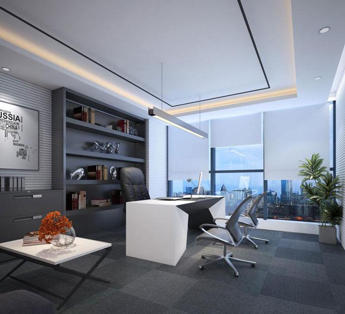 网站首页 关于岚禾 效果图 - 正文    本次为现代风格办公室装修设计