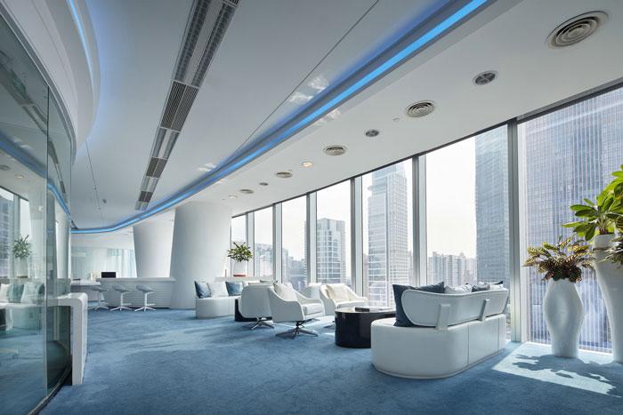 本次企业办公室装修设计效果图讲解到此结束,设计师在办公室设计中,以现代、简约、科技、高效为办公室设计关键词,目的就是希望营造一个高端、科技感十足的办公空间。