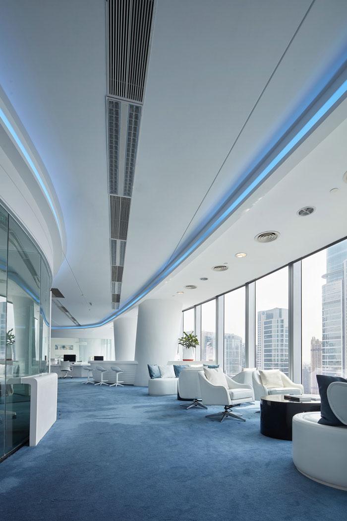 企业办公室接待区装修设计效果图