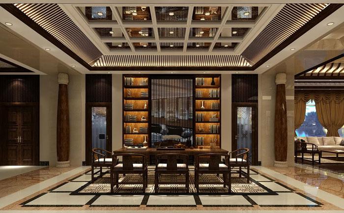 中式总裁办公室装修设计效果图