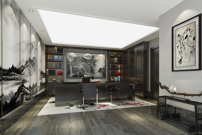 中式风格办公室装修效果图