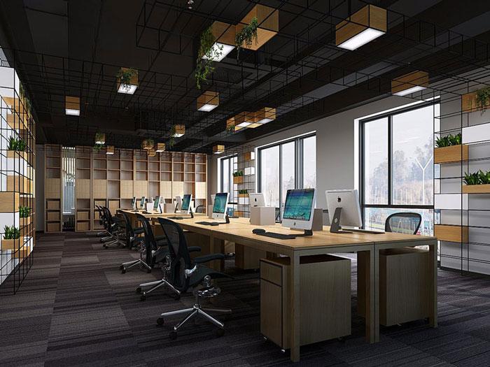 新中式禅意办公室装修效果图