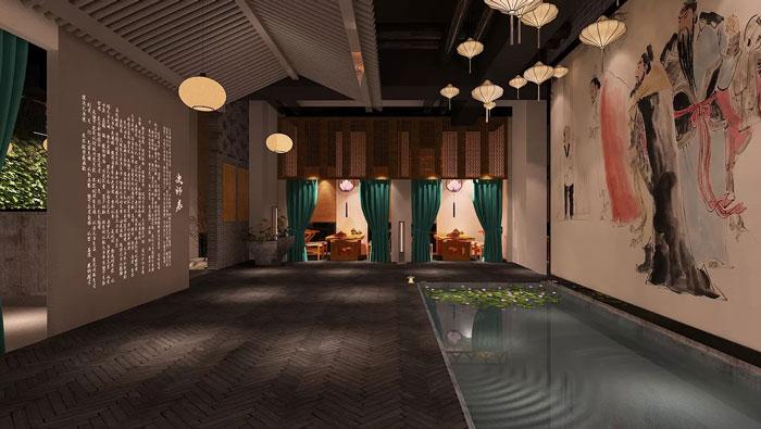 中式风格中庭装修设计效果图