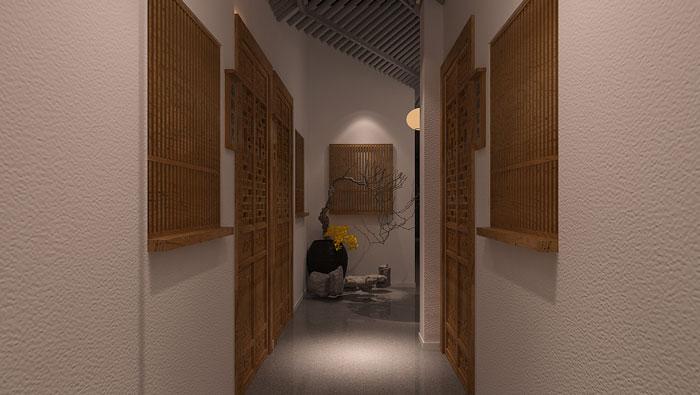 中式风格过道装修设计效果图