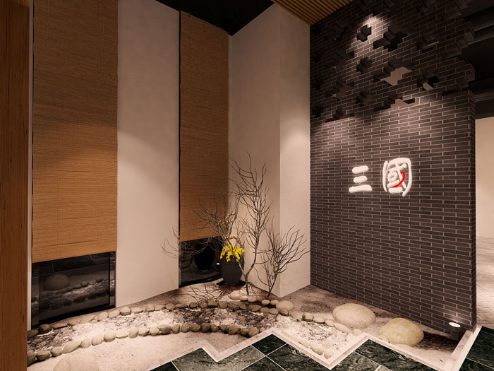 中式风格进门区装修设计效果图