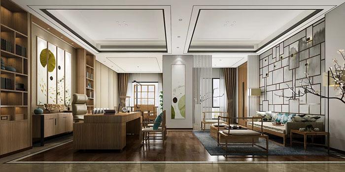 新中式总经理办公室设计方案
