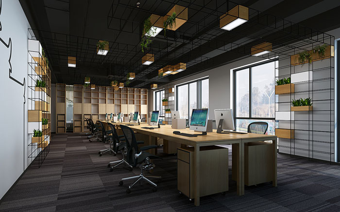 新中式办公室办公区设计方案