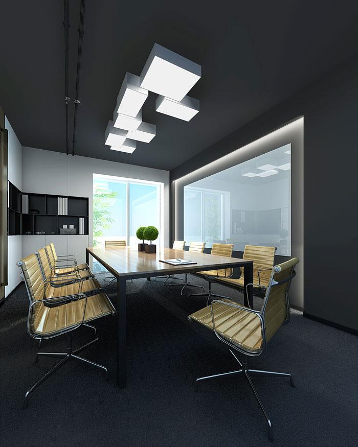 新中式办公室会议室设计方案