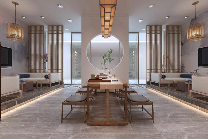 中式办公室入口设计方案