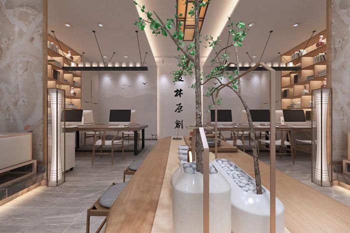 中式办公室办公区设计方案