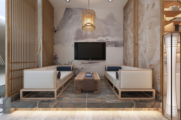 中式办公室接待区设计方案