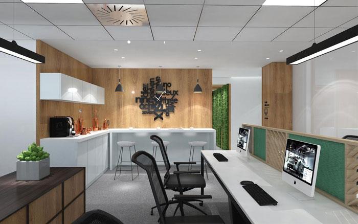 本次新中式办公楼装修设计效果图讲解到此结束,设计师在办公室