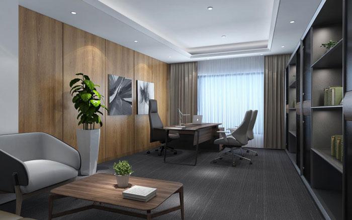 新中式总经理办公室装修设计效果图