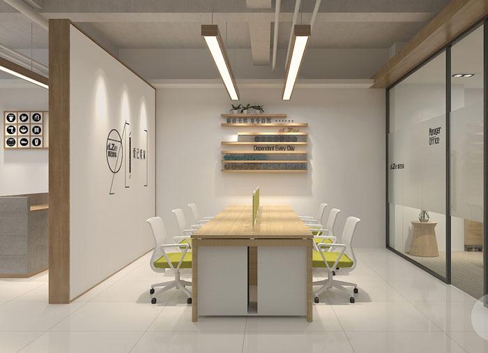 日式办公室办公区装修设计效果图
