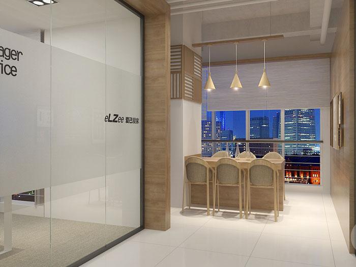 日式办公室洽谈区装修设计效果图