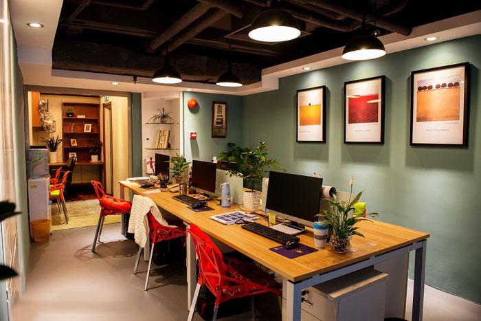 美式办公室办公区装修设计效果图