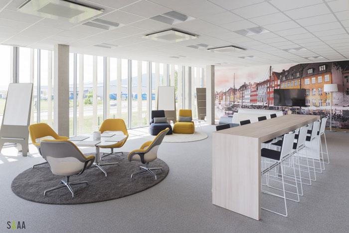 厂房研发中心办公室休息区装修设计效果图