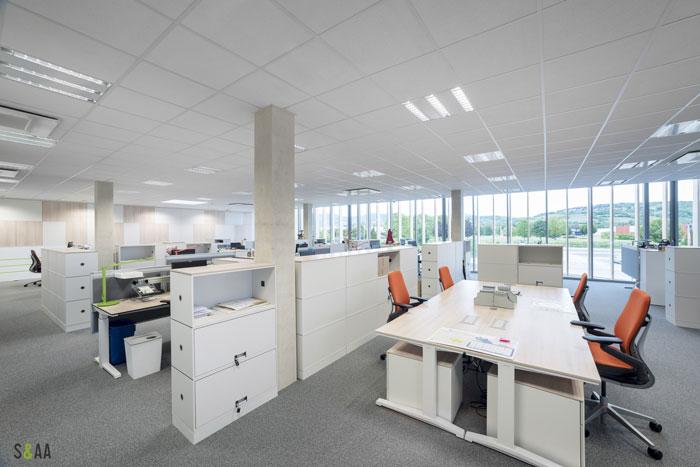 厂房研发中心办公室办公区装修设计效果图