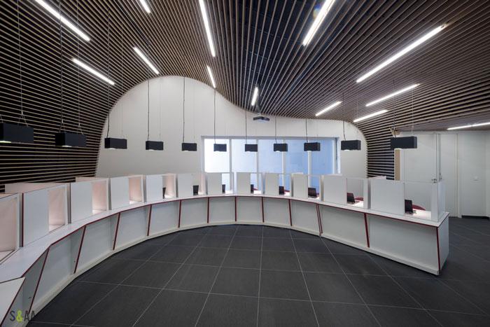 厂房研发中心办公室展示区装修设计效果图