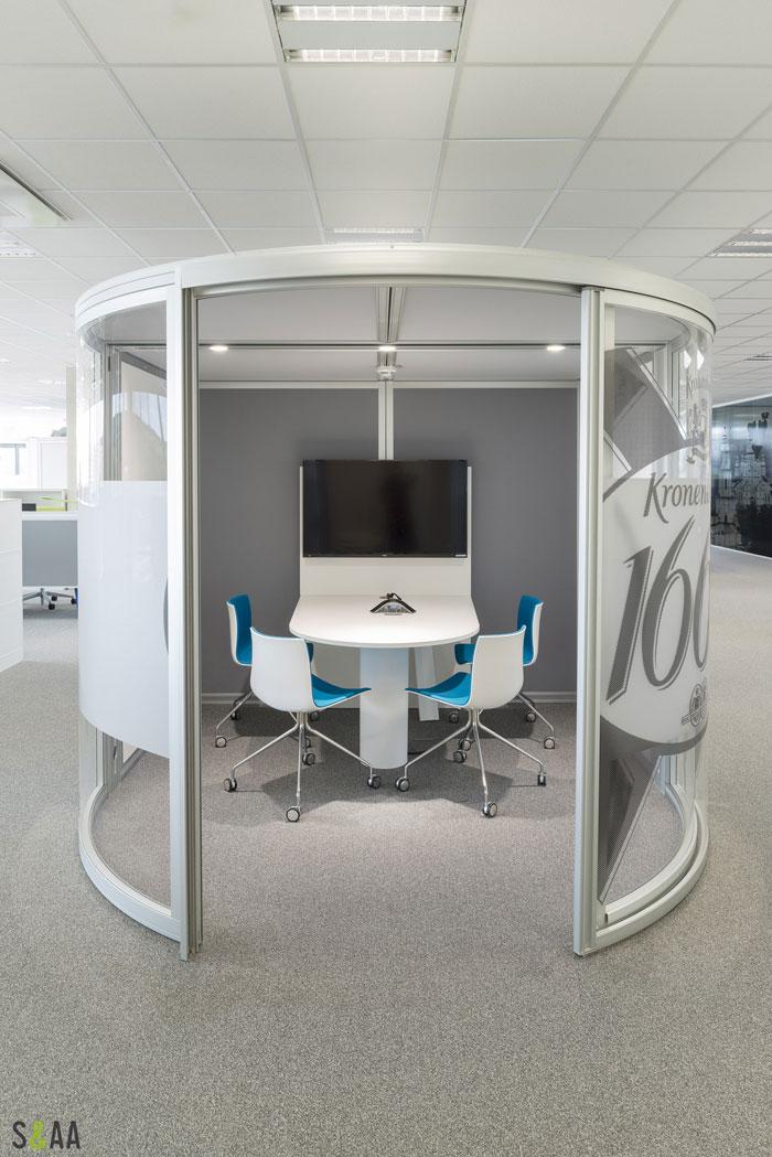 厂房研发中心办公室洽谈区装修设计效果图
