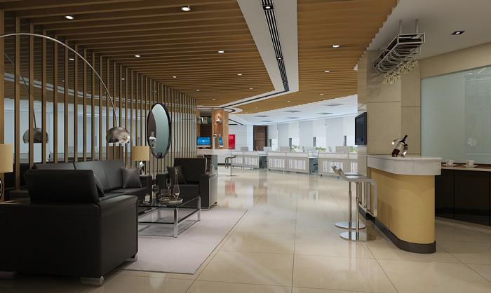 證券公司辦公室接待區裝修設計效果圖