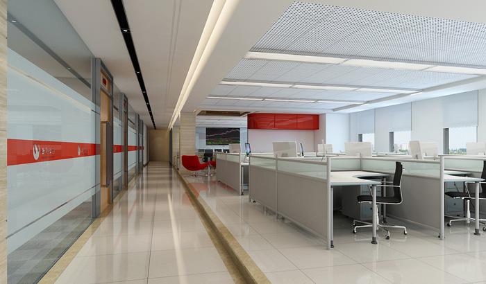 证券公司办公室装修设计效果图
