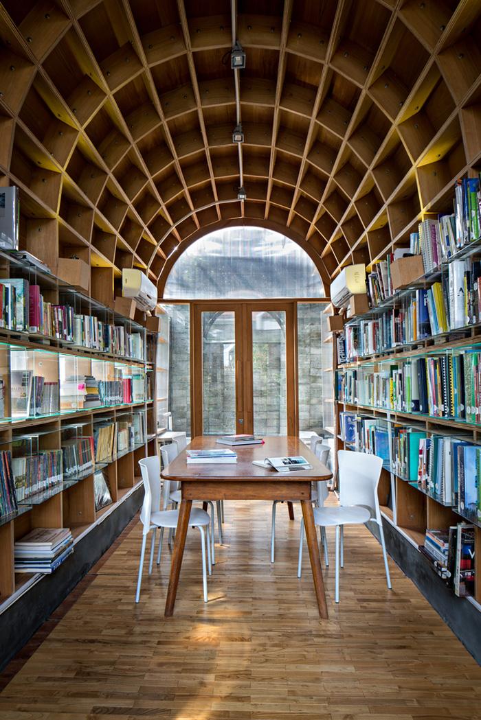 原生态办公室阅读室装修设计效果图