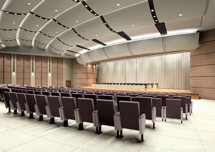 500人多功能会议室效果图